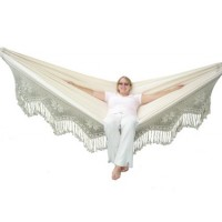 Brazilian Style Double Deluxe Hammock - Natural