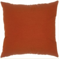 "Sunbrella 24""x24"" Square Designer Pillow - Canvas Brick"