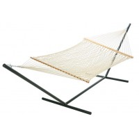 Castaway Large White Polyester Rope Hammock