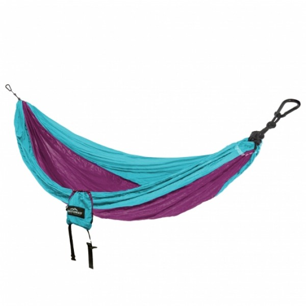 Castaway Single Travel Hammock - Turquoise/Raspberry