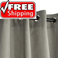 Sunbrella Outdoor Curtain with Nickel Grommets - Spectrum Dove