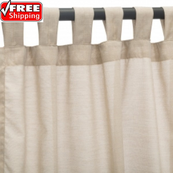 Sunbrella Outdoor Curtain with Tab Top - Wren (SHEER)