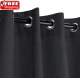 Sunbrella Outdoor Curtain with Stainless Steel Grommets - Raven Black