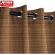 Sunbrella Outdoor Curtain with Stainless Steel Grommets - Dupione Oak