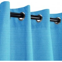 Sunbrella Outdoor Curtain with Stainless Steel Grommets - Capri