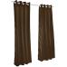 Sunbrella Outdoor Curtain with Nickel Grommets - Bay Brown
