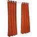 Sunbrella Outdoor Curtain with Nickel Grommets - Canvas Brick
