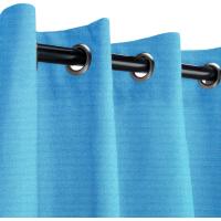 Sunbrella Outdoor Curtain with Nickel Grommets - Canvas Capri