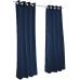 Sunbrella Outdoor Curtain with Nickel Grommets - Canvas Navy