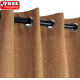 Sunbrella Outdoor Curtain with Stainless Steel Grommets - Canvas Teak