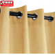 Sunbrella Outdoor Curtain with Stainless Steel Grommets - Canvas Brass