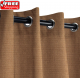 Sunbrella Outdoor Curtain with Stainless Steel Grommets - Canvas Chestnut