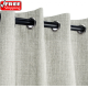 Sunbrella Outdoor Curtain with Stainless Steel Grommets - Canvas Granite