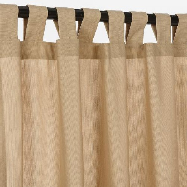Sunbrella Outdoor Curtain With Tabs - Spectrum Sand