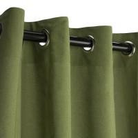 Sunbrella Outdoor Curtain with Nickel Grommets -  Spectrum Cilantro
