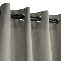Sunbrella Outdoor Curtain with Nickel Grommets - Spectrum Dove