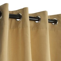 Sunbrella Outdoor Curtain with Nickle Grommets - Wheat