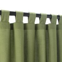 Sunbrella Outdoor Curtain With Tabs - Specrtum Cilantro