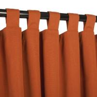 Sunbrella Outdoor Curtain With Tabs - Rust
