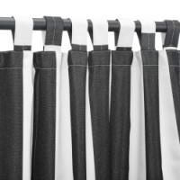Sunbrella Outdoor Curtain with Tab Top - Cabana Black