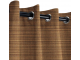 Sunbrella Outdoor Curtain with Nickel Grommets - Dupione Oak