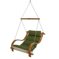 Single Swing with Oak Arms - Canvas Turf