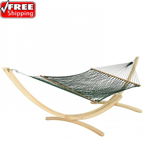 Deluxe Green Duracord Rope Hammock
