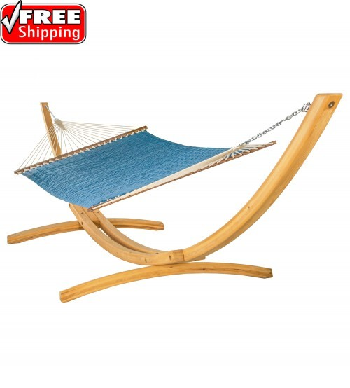 Large Quilted Hammock - SUNBRELLA Canvas Regatta