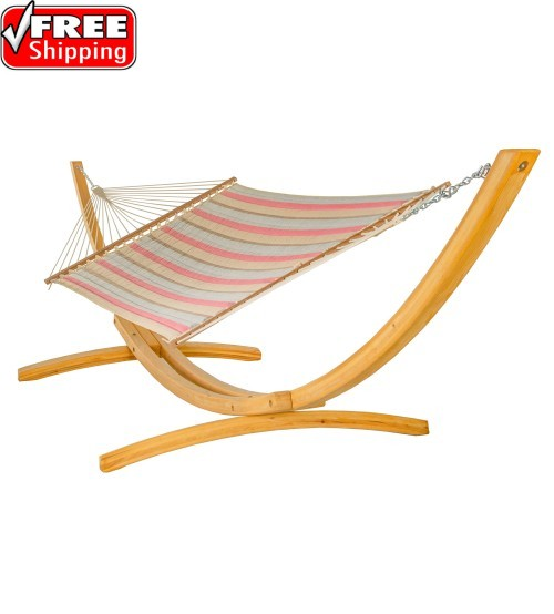 Large Quilted Hammock - Sunbella Gateway Blush