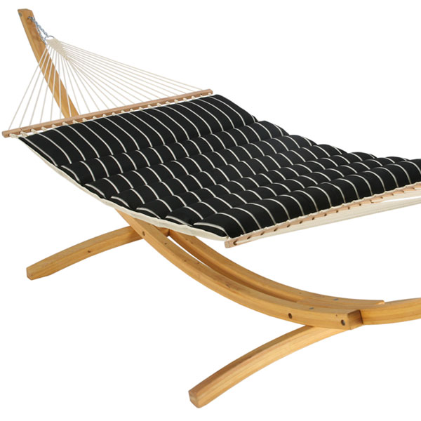 Pillowtop Hammock - Classic Black Stripe