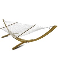 Deluxe White Polyester Rope Hammock