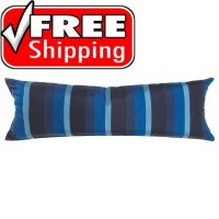 "52"" Long Hammock Pillow - Sunbrella® Gateway Indigo"