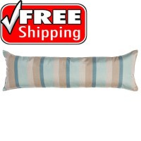 "52"" Long Hammock Pillow - Sunbrella® Gateway Mist"
