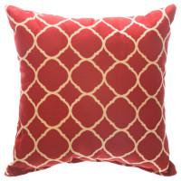 "Sunbrella 24""X24"" Square Throw Pillow - Accord II Crimson"