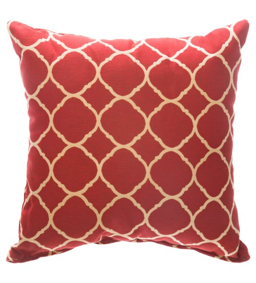 "Sunbrella 24""X24"" Square Throw Pillow - Accord II Crimson"