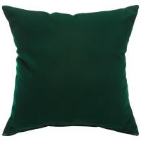"Sunbrella 24""x24"" Square Throw Pillow - Canvas Forest Green"