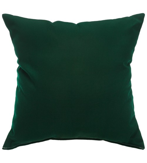 "Sunbrella 24""x24"" Square Throw Pillow - Canvas Forest Green"