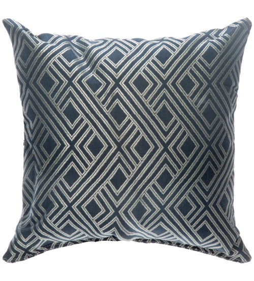 "Sunbrella 24""x24"" Square Throw Pillow - Integrated Indigo"