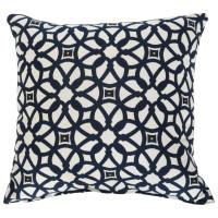 """Sunbrella 18""""x18"""" Square Throw Pillow - Luxe Indigo"""