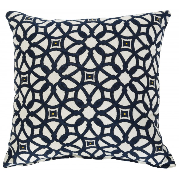 "Sunbrella 18""x18"" Square Throw Pillow - Luxe Indigo"