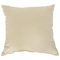 "Sunbrella 18""x18"" Square Throw Pillow - Cream"