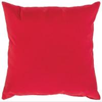 "Sunbrella 24""x24"" Square Throw Pillow - Canvas Jockey Red"