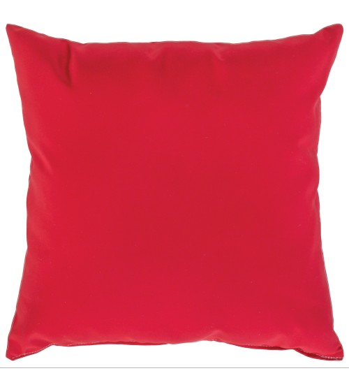"Sunbrella 24""x24"" Square Throw Pillow - Canvas Jockey Red"