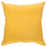 "Sunbrella 18""x18"" Square Throw Pillow - Canvas Sunflower Yellow"