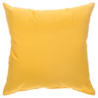 "Sunbrella 24""x24"" Square Throw Pillow - Canvas Sunflower Yellow"