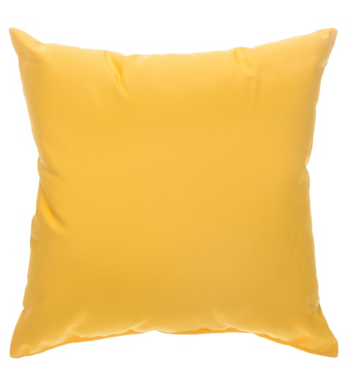 "Sunbrella 24""x24"" Square Throw Pillow - Canvas Sunflower Yellow"