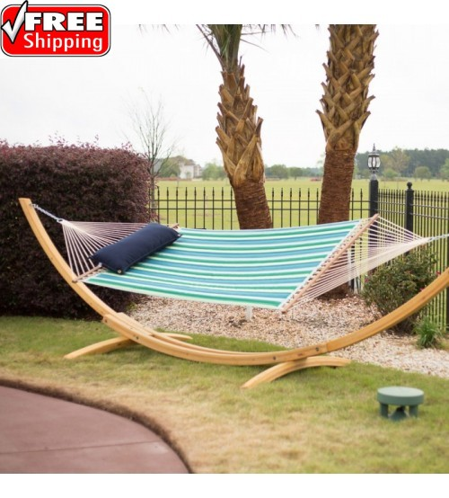 Large Quilted Hammock - SUNBRELLA Gateway Tropic
