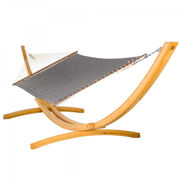 Large Quilted Hammock - SUNBRELLA Canvas Charcoal