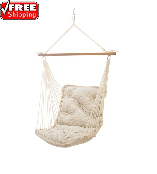Tufted Single Swing - Sunbrella Integrated Pewter