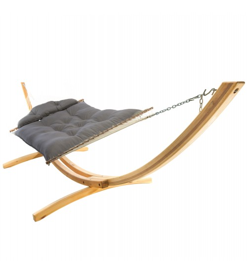 Hatteras Hammock Large Tufted Hammock -  Sunbrella Canvas Charcoal